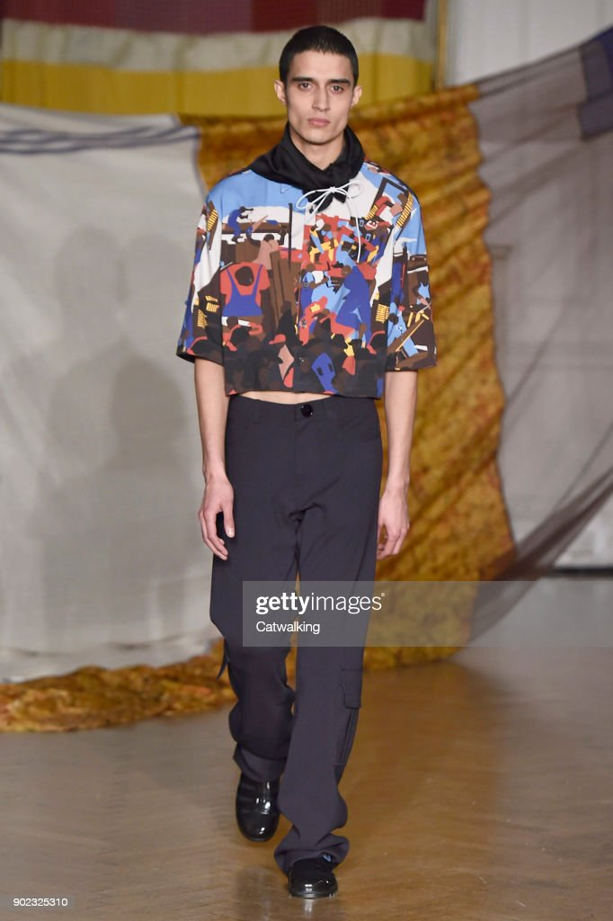 Wales Bonner - Mens Fall 2018 Runway - London Menswear Fashion Week : News Photo