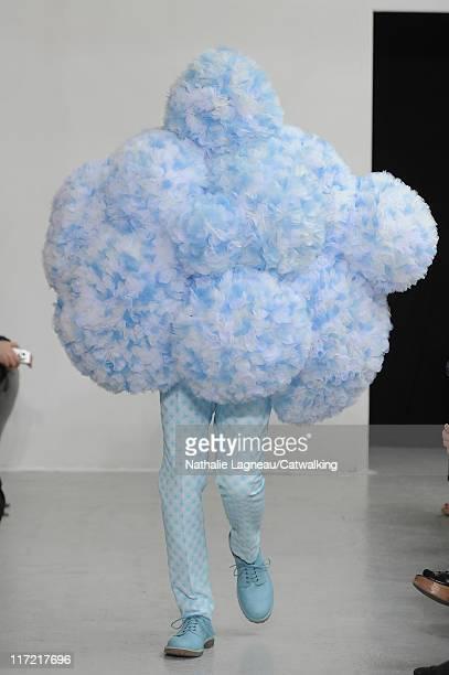 A model walks the runway at the Walter Van Beirendonck menswear fashion show during Paris Fashion Menswear Week on June 24 2011 in Paris France