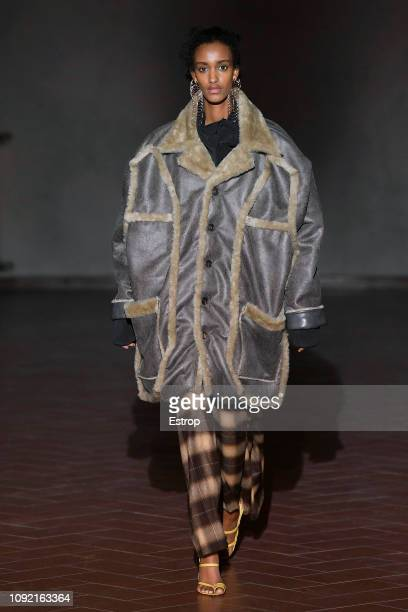 A model walks the runway at the Y/Project show during the 95th Pitti Uomo at Santa Maria Novella on January 9 2019 in Florence Italy