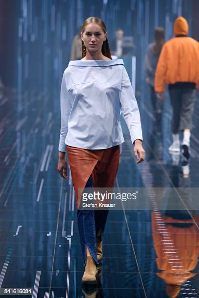A model walks the runway at the Zalando A/W 17 women show during the Bread Butter by Zalando at BB Stage arena Berlin on September 1 2017 in Berlin...