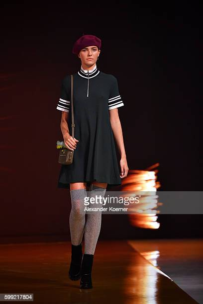 A model walks the runway at the Zalando fashion show during the Bread Butter by Zalando at arena Berlin on September 4 2016 in Berlin Germany