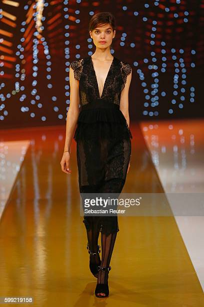 Model walks the runway at the Zalando fashion show during the Bread & Butter by Zalando at arena Berlin on September 4, 2016 in Berlin, Germany.