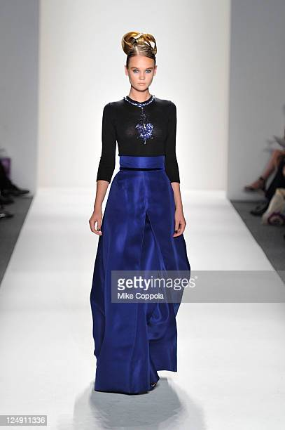 A model walks the runway at the Zang Toi during MercedesBenz Fashion Week Spring 2012 at Lincoln Center on September 13 2011 in New York City