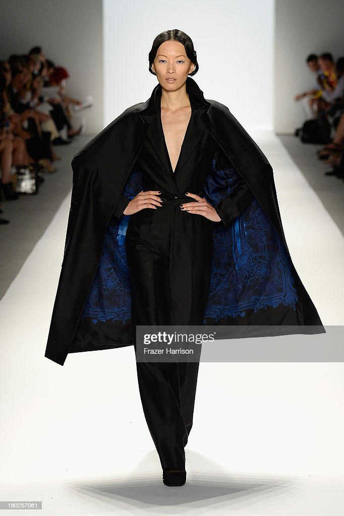 A model walks the runway at the Zang Toi fashion show during Mercedes-Benz Fashion Week Spring 2014 on September 10, 2013 in New York City.