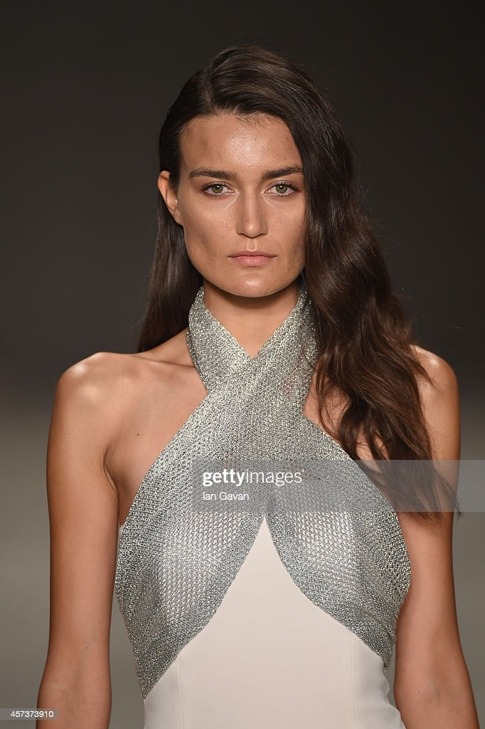 A model walks the runway at the Zeynep Erdogan show during