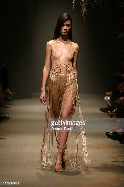 A model walks the runway at the Zeynep Erdogan show during Mercedes Benz Fashion Week Istanbul FW15 on March 20 2015 in Istanbul Turkey