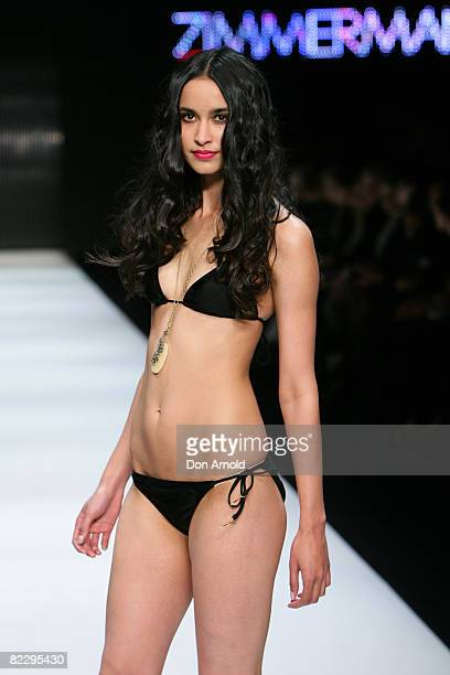 Model walks the runway at the Zimmerman showcase of the David Jones group show during the inaugural Rosemount Sydney Fashion Festival 2008 at Martin...