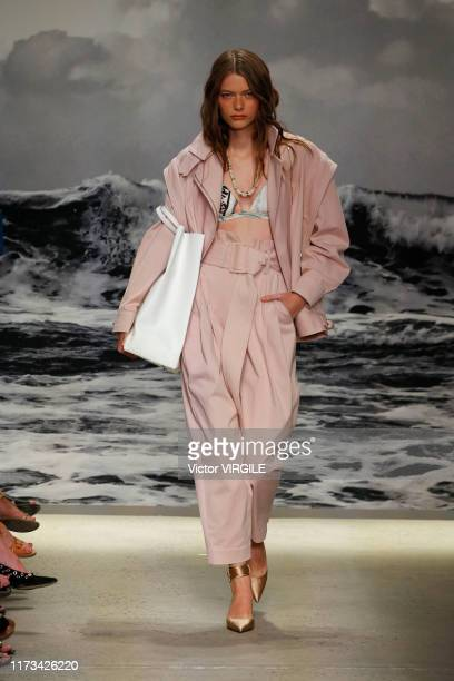 Model walks the runway at the Zimmermann Ready to Wear Spring/Summer 2020 fashion show during New York Fashion Week on September 09, 2019 in New York...