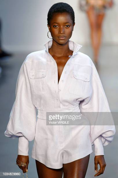 Model walks the runway at the Zimmermann Spring/Summer 2019 fashion show during New York Fashion Week on September 10, 2018 in New York City.