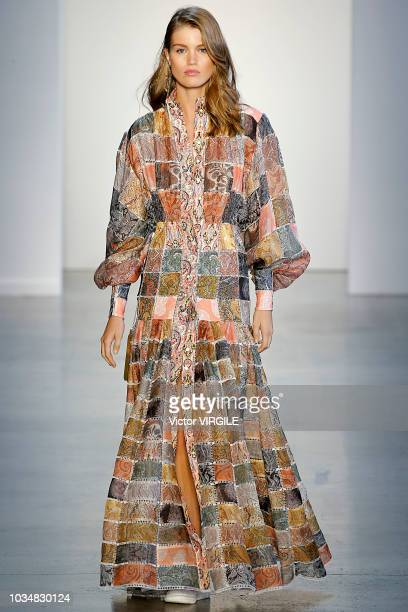 A model walks the runway at the Zimmermann Spring/Summer 2019 fashion show during New York Fashion Week on September 10 2018 in New York City