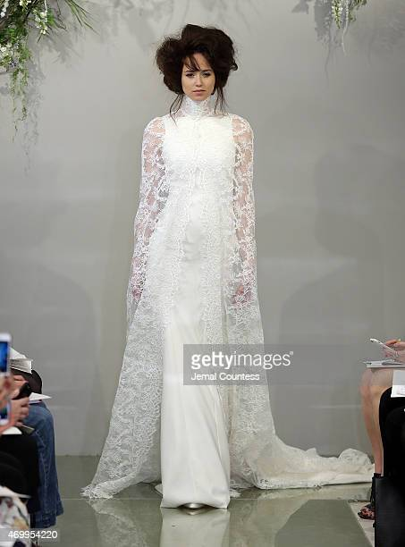 A model walks the runway at Theia Bridal Spring/Summer 2016 at 1412 Broadway on April 16 2015 in New York City