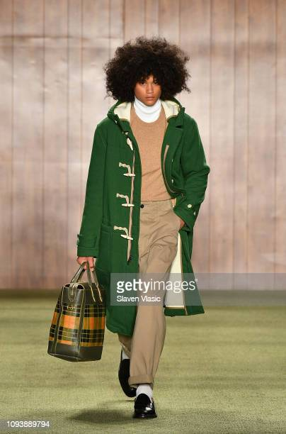 A model walks the runway at Todd Snyder fashion show during men's New York Fashion Week at Pier 59 Studios on February 4 2019 in New York City