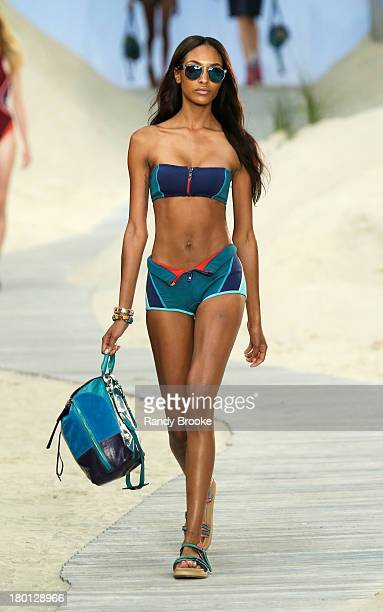 A model walks the runway at Tommy Hilfiger presents Spring 2014 Women's Collection at Pier 94 on September 9 2013 in New York City
