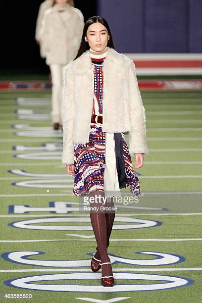 Model walks the runway at Tommy Hilfiger Women's Collection during Mercedes-Benz Fashion Week Fall 2015 on February 16, 2015 in New York City.