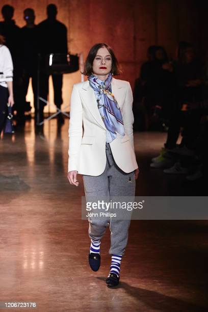 Model walks the runway at TOMMYNOW London Spring 2020 at Tate Modern on February 16, 2020 in London, England.