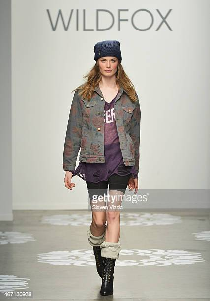 A model walks the runway at Wildfox at Pier 59 on February 5 2014 in New York City