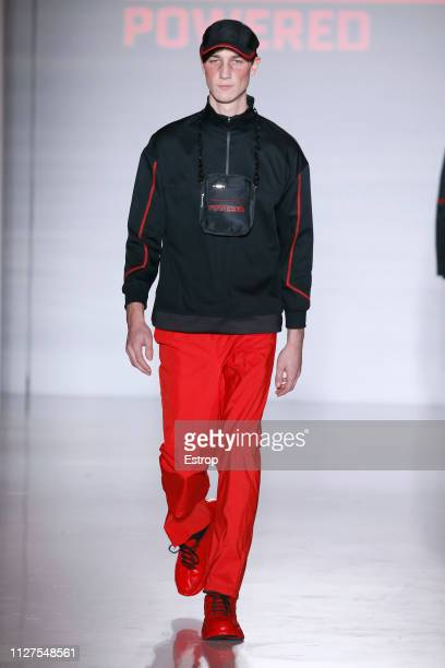Model walks the runway at Z1 fashion show during Barcelona 080 Fashion Week – February 2019 on February 5th, 2019 in Barcelona, Spain.