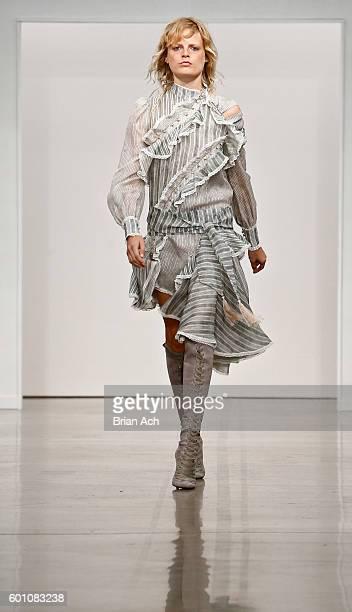 A model walks the runway at Zimmermann during New York Fashion Week September 2016 at Metropolitan Pavilion West on September 9 2016 in New York City