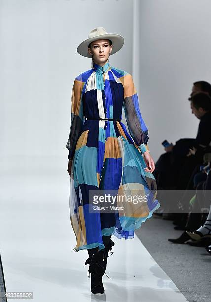 A model walks the runway at Zimmermann fashion show during MercedesBenz Fashion Week Fall 2015 at ArtBeam on February 13 2015 in New York City