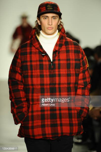 A model walks the runway ay the Todd Snyder fashion show during New York Fashion Week at Pier 59 Studios on February 5 2020 in New York City