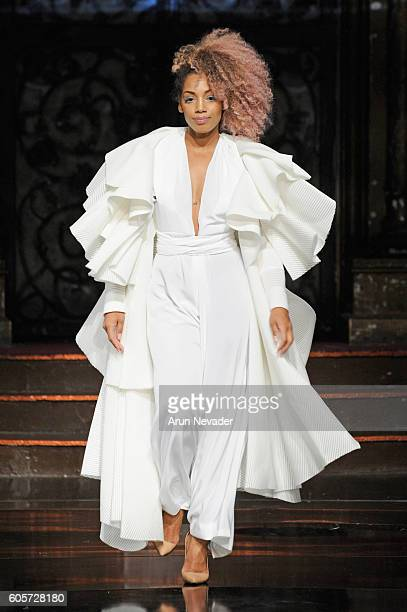 A model walks the runway Dair by Odair Pereira at Art Hearts Fashion NYFW The Shows presented by AIDS Healthcare Foundation at The Angel Orensanz...