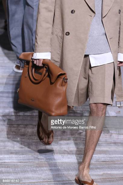Model walks the runway, detail, at Michael Kors show during New York Fashion Week at Spring Studios on September 13, 2017 in New York City.