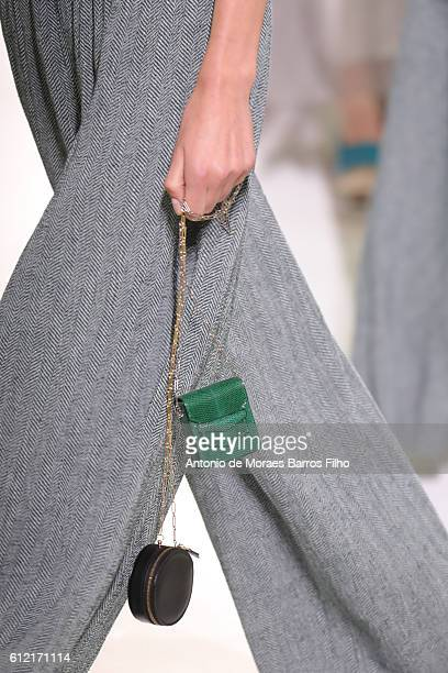 A model walks the runway detail during the Hermes show as part of the Paris Fashion Week Womenswear Spring/Summer 2017 on October 3 2016 in Paris...