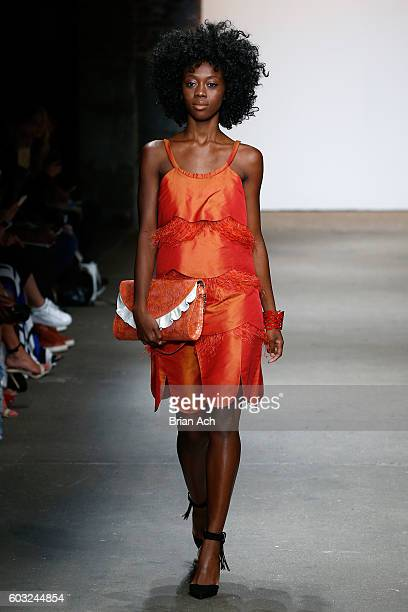 A model walks the runway during ACID NYC's show during Nolcha Shows New York Fashion Week Women's S/S 2017 on September 12 2016 in New York City