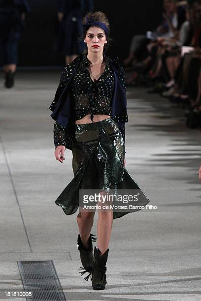 A model walks the runway during Alexis Mabille show as part of the Paris Fashion Week Womenswear Spring/Summer 2014 on September 25 2013 in Paris...