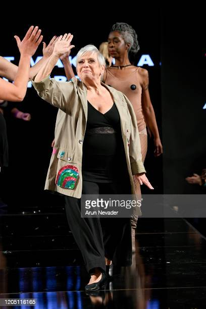 A model walks the runway during Ana Ono Intimates Project Cancerland At New York Fashion Week Powered By Art Hearts Fashion NYFW 2020 at The Angel...