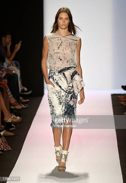 A model walks the runway during BCBGMAXAZRIA Spring 2014 fashion show at MercedesBenz Fashion Week Spring 2014 Official Coverage Best Of Runway Day 1...