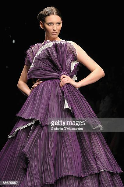 A model walks the runway during Carlo Pignatelli Cerimonia Fashion Show as part as Milan Fashion Week Menswear Spring/Summer 2010 on June 19 2009 in...