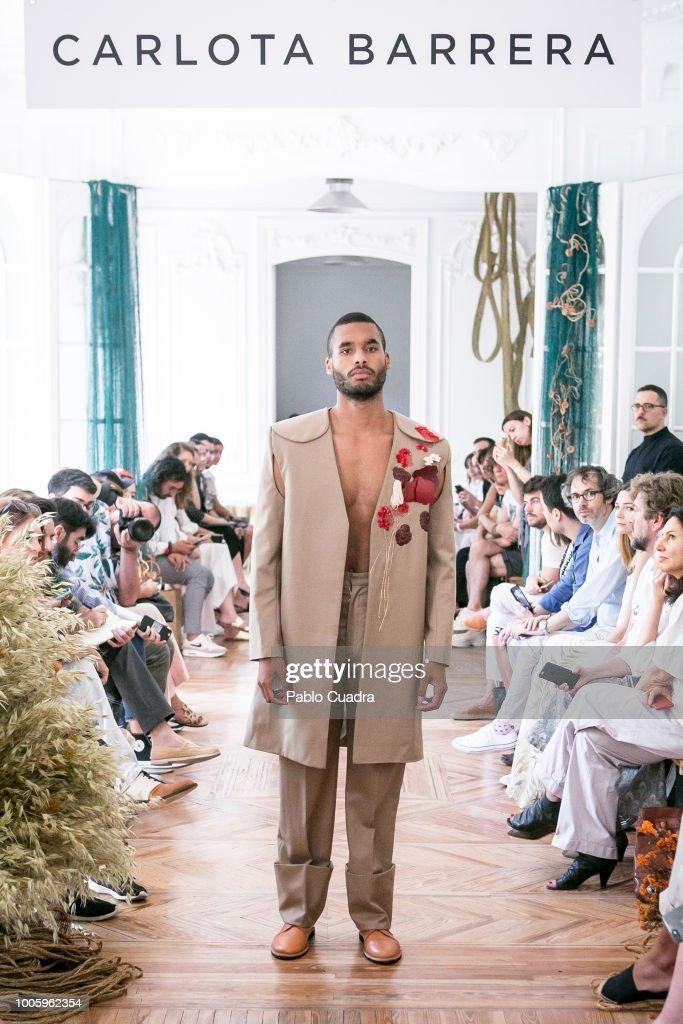 A model walks the runway during Carlota Barrera show at Mercedes Benz Fashion Week Madrid Spring/ Summer 2019 on July 12, 2018 in Madrid, Spain.