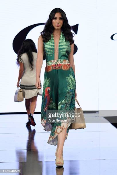 A model walks the runway during CARMEN STEFFENS At New York Fashion Week Powered by Art Hearts Fashion NYFW September 2019 at The Angel Orensanz...