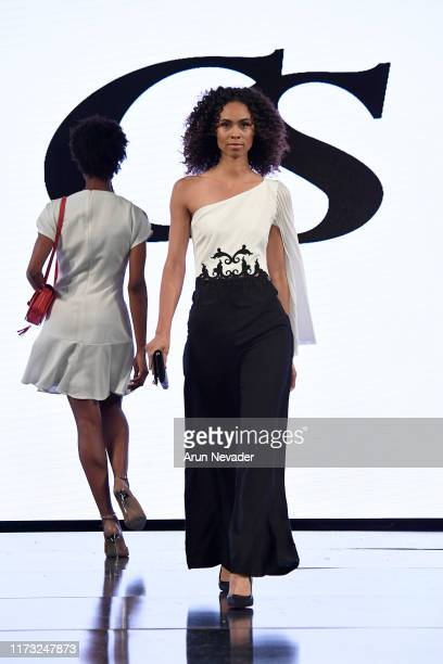 Model walks the runway during CARMEN STEFFENS At New York Fashion Week Powered by Art Hearts Fashion NYFW September 2019 at The Angel Orensanz...
