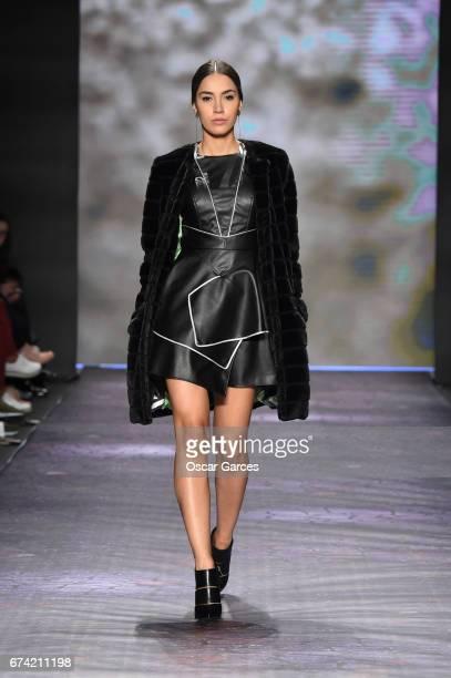 A model walks the runway during Carolina Estefan show as part of Bogota Fashion Week 2017 at Expo Bogota on April 27 2017 in Bogota Colombia