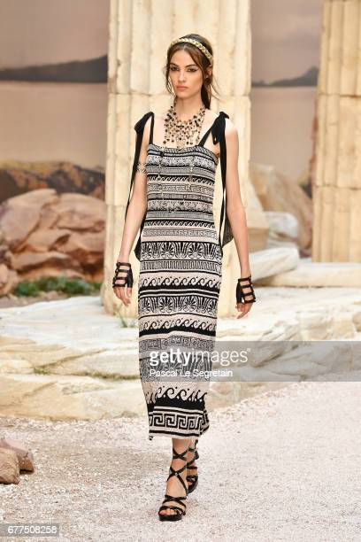 Model walks the runway during Chanel Cruise 2017/2018 Collection at Grand Palais on May 3, 2017 in Paris, France.