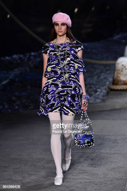 A model walks the runway during Chanel Cruise 2018/2019 Collection at Le Grand Palais on May 3 2018 in Paris France