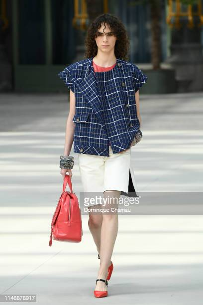 A model walks the runway during Chanel Cruise 2020 Collection at Le Grand Palais on May 03 2019 in Paris France
