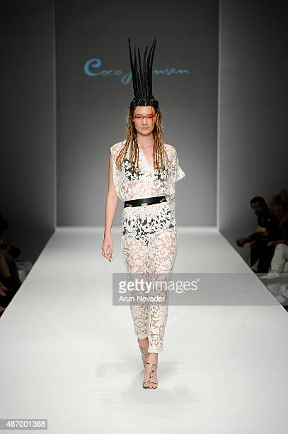 Model walks the runway during Coco Johnsen fashion show at The Reef on March 19 2015 in Los Angeles California