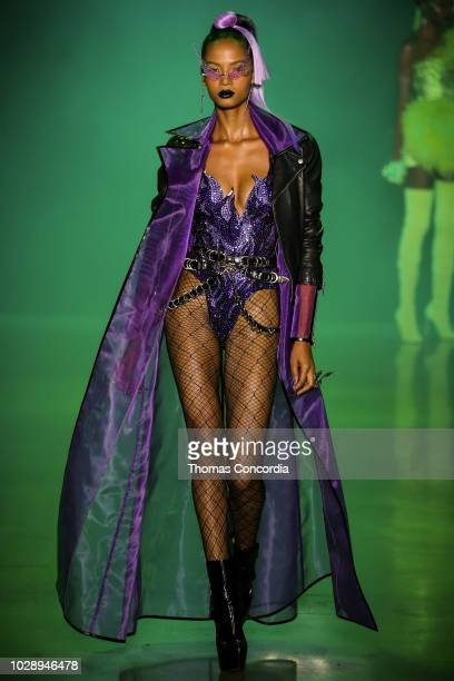 A model walks the runway during Disney Villains x The Blonds fashion show at Gallery I at Spring Studios on September 7 2018 in New York City