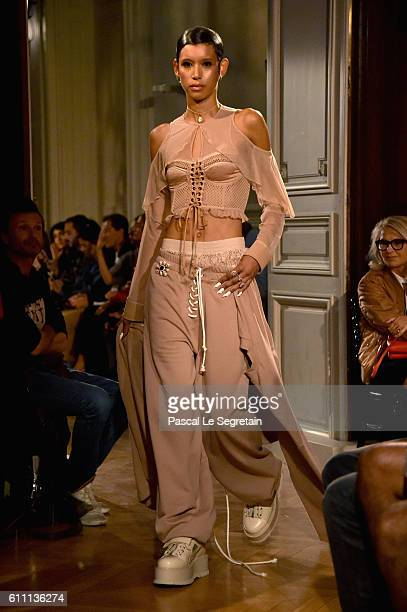 A model walks the runway during FENTY x PUMA by Rihanna at Hotel Salomon de Rothschild on September 28 2016 in Paris France