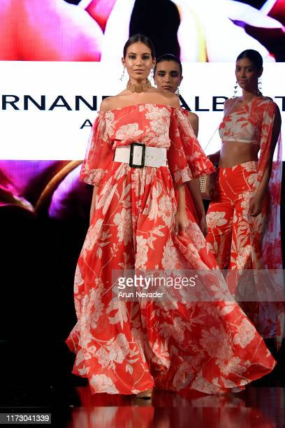 A model walks the runway during FERNANDO ALBERTO ATELIER At New York Fashion Week Powered by Art Hearts Fashion NYFW September 2019 at The Angel...