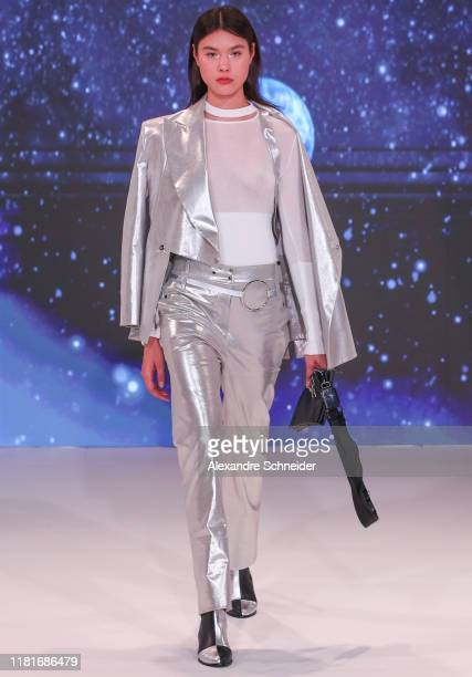 A model walks the runway during Gloria Coelho show during SPFW N48 Day 3 at Faap on October 17 2019 in Sao Paulo Brazil