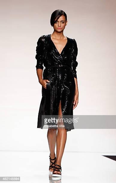 A model walks the runway during Greta Boldini Spring 2015 colletion fashion show as part of AltaRoma AltaModa Fashion Week at Santo Spirito In Sassia...