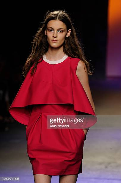 Model walks the runway during ICB by Prabal Gurung during MercedesBenz Fashion Week Spring 2014 on September 10 2013 in New York City