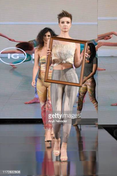 Model walks the runway during IG MODA at New York Fashion Week Powered by Art Hearts Fashion at The Angel Orensanz Foundation on September 06, 2019...