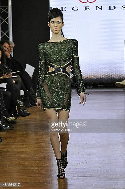 A model walks the runway during Legends show as part of Paris Fashion Week Haute Couture Spring/Summer 2014 on January 21 2014 in Paris France