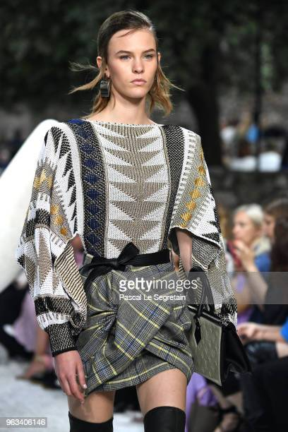 A model walks the runway during Louis Vuitton 2019 Cruise Collection Fashion Show at Fondation Maeght on May 28 2018 in SaintPaulDeVence France