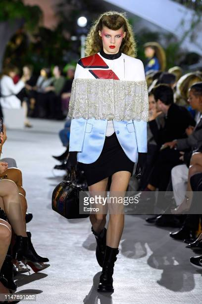A model walks the runway during Louis Vuitton Cruise 2020 on May 8 2019 in New York USA